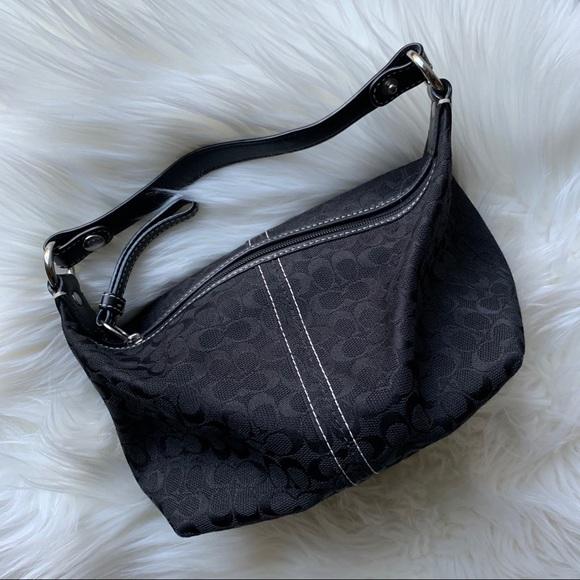 Authentic Coach Black Canvas Handbag